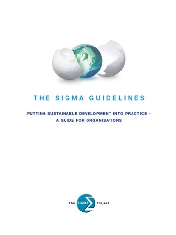Sustainability Issues Guide: THE SIGMA GUIDELINES - TOOLKIT | GO Sustainable GO Versatile | Scoop.it