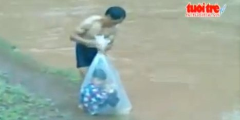 WATCH: The Child In This Plastic Bag Is Crossing A River To Get To School | Xposed | Scoop.it