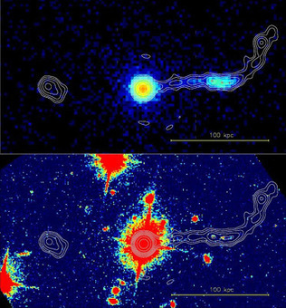 Τέχνης Σύμπαν και Φιλολογία: Ανακαλύφθηκε σπάνιο τριπλό σύστημα κβάζαρ, Extremely Rare Triple Quasar Found | Τέχνης Σύμπαν και Φιλολογία | Scoop.it
