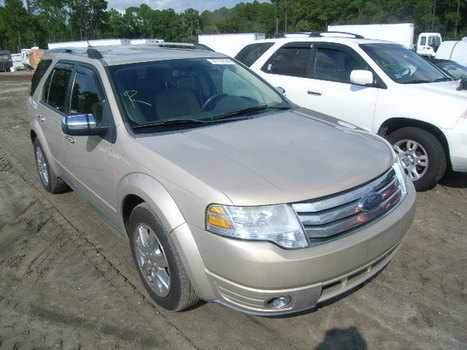 Salvage 2008 beige Ford Taurus X L with VIN 1FMDK03W28GA07249 on auction | VEHICLES on Auction | Scoop.it