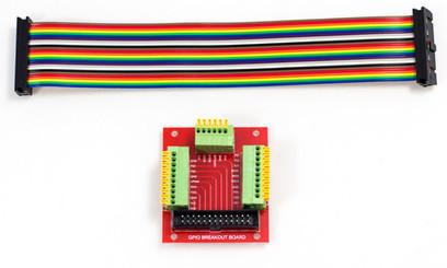 Raspberry Pi GPIO Breakout Board with paddle terminals - Pimoroni - Raspberry Pi Cases and Accessories for kids, hackers, makers, educators and learners. | Raspberry Pi | Scoop.it