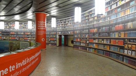 Vodafone and Humanitas's digital library in Bucharest subway station | Street & Guerrilla Marketing | Scoop.it