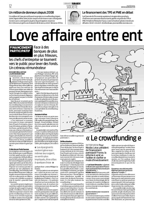 Article du Sud-Ouest sur le crowdfunding | Financement participatif | Scoop.it