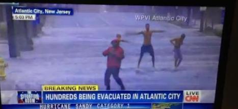 Ouragan Sandy : Ils se mettent à danser derrière le journaliste en plein duplex sur CNN   Radio Planète-Eléa   Scoop.it