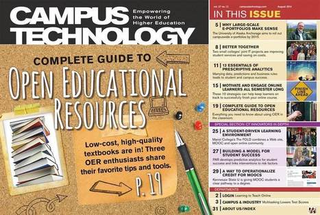 Campus Technology : August 2014, Page 1 | MOOCS and other open education opportunities | Scoop.it