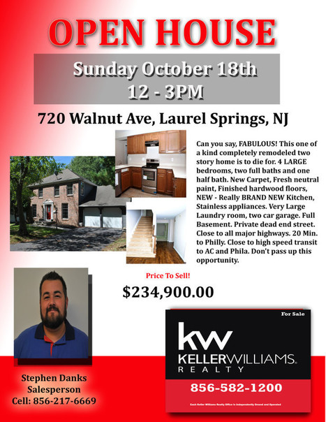 OPEN HOUSE Sunday Oct. 18th 12-3PM 720 Walnut Laurel Springs | SmartChoiceRealEstate | Scoop.it