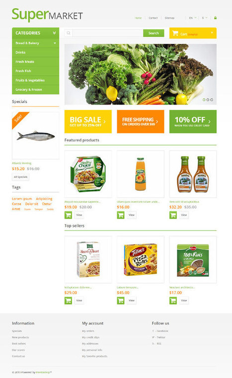 Super Market, Grocery Stores Prestashop Template   CMS   Scoop.it