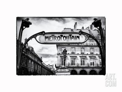 Art.fr - Photographie 'Art Deco Metropolitain Sign, Metro, Subway, the Louvre Station, Paris, France, Europe' par Philippe Hugonnard | L'actualité photographique #photographie | Scoop.it