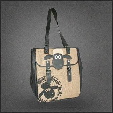 Grand sac épaule shopping Shaun le Mouton | Boutique Muku | Scoop.it