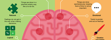 Infographic: Left vs. Right Brain | UDL - Universal Design for Learning | Scoop.it