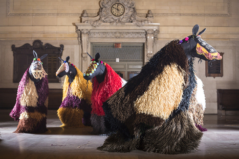 Horses Wearing Nick Cave's Soundsuits Stampede Into Grand ...   Equestrian Marketing   Scoop.it