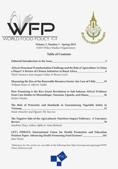 The Role of Proximity and Standards in Guaranteeing Vegetable Safety in Vietnam. In World Food Policy, vol. 2, n°1, 2015, 52-77 | FOOD SAFETY - STANDARDS - SUSTAINABILITY - QUALITY .......Veille documentaire Equipe Normes MOISA...... | Scoop.it