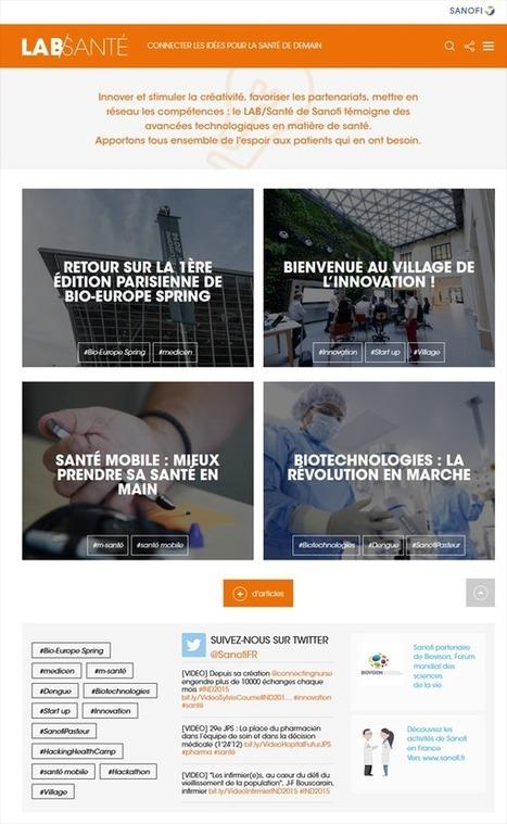 LAB/Santé : site web dédié l'innovation par Sanofi - Buzz-esanté | Fructoze | Scoop.it