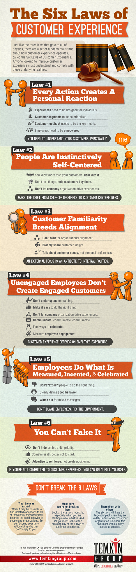Infographic: The Six Laws of Customer Experience   Business Development   Scoop.it