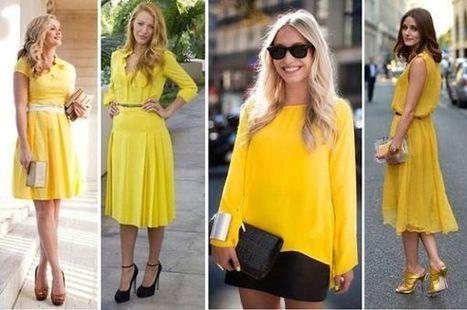 Tendenze Moda ss 2015: Il Colore Giallo Per Abiti Ed Accessori | Fashion blog di moda | Scoop.it