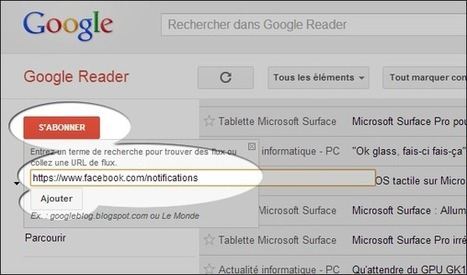 Suivre ses notifications Facebook par RSS via Google Reader | François MAGNAN  Formateur Consultant et Documentaliste | Scoop.it