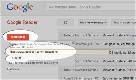 Suivre ses notifications Facebook par RSS via Google Reader | François MAGNAN  Formateur Consultant | Scoop.it