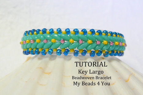 PDF Beadwork Tutorial, Beaded Bracelet Pattern, Beadweaving Tutorial, Pattern | Bazaar | Scoop.it