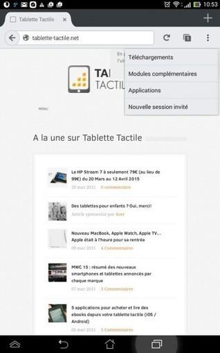 5 astuces que vous ignorez pour Mozilla Firefox Android - Tablette-Tactile.net | François MAGNAN  Formateur Consultant et Documentaliste | Scoop.it