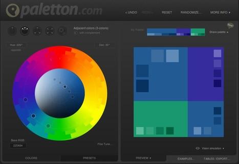 Paletton - The Color Scheme Designer | TICE, Web 2.0, logiciels libres | Scoop.it