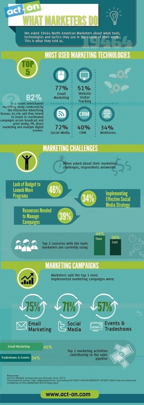 Marketers Prefer Email, Fear Low Budget  [Infographic] | digital marketing strategy | Scoop.it