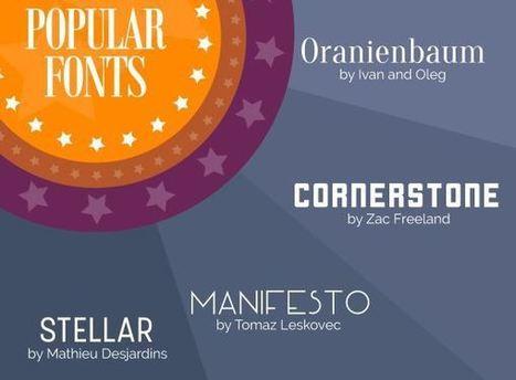 Infographie : les grandes tendances typographie en 2016 - Blog du Modérateur | Bien communiquer | Scoop.it