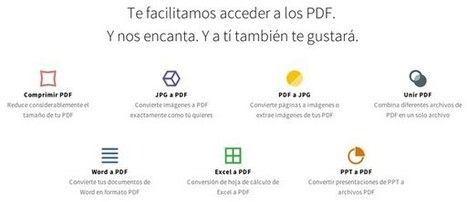 Smallpdf, una suite online para trabajar con documentos PDF.- | Educacion, ecologia y TIC | Scoop.it