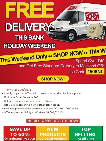 Frost A.R.T. Ltd - Free Delivery - This Bank Holiday Weeken Spend over £40 and get Free Standard Delivery to Mainland GB* | Auto Restoration | Scoop.it