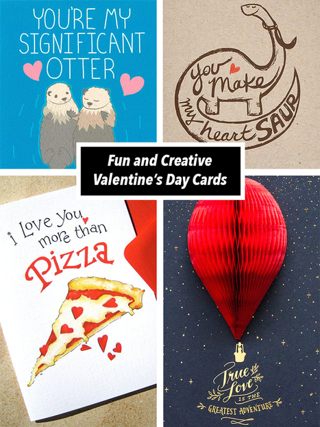23 Valentine's Day Cards to Express Your Love in a Quirky Way | Le It e Amo ✪ | Scoop.it