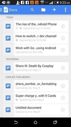 Lo guiamos en el proceso de trabajar con Google Docs sin conexión en su dispositivo Android. | Documentos de Google | Scoop.it