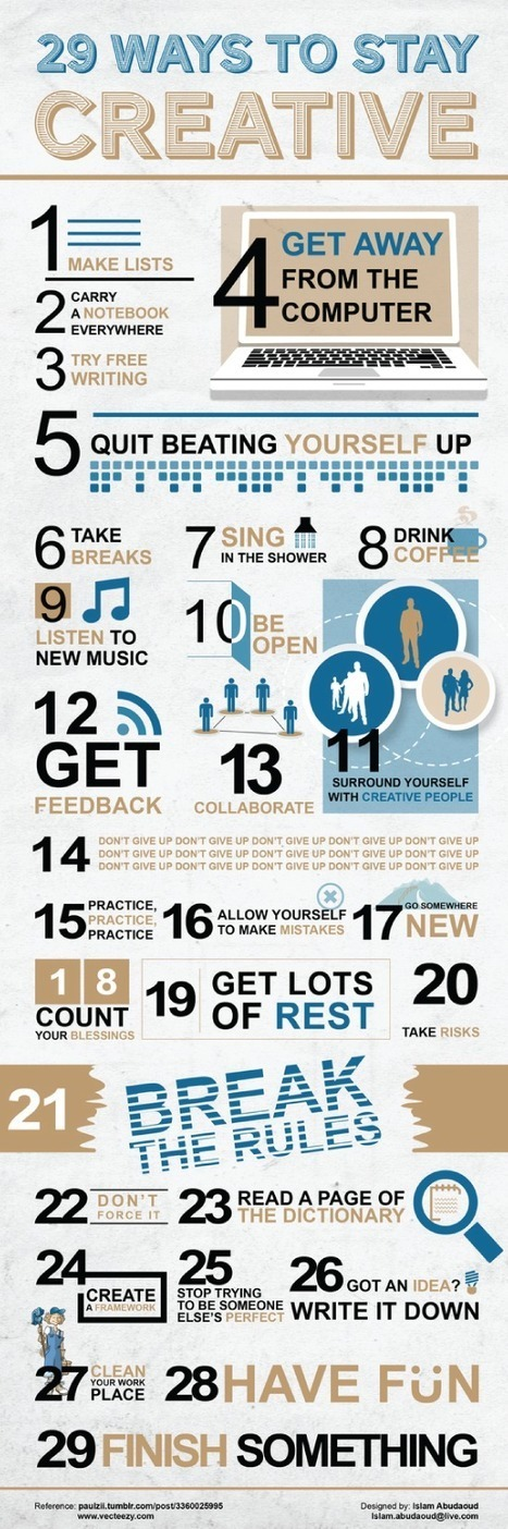 29 ways to stay creative, plus 1. · Inknowation.co – Where ...   Innovation Economy   Scoop.it