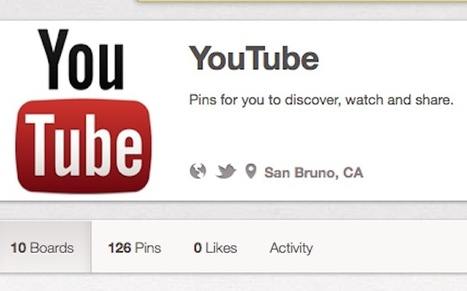 YouTube Joins Pinterest: Here's What It's Pinning   Pinterest   Scoop.it