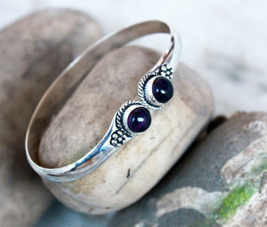 Bling Station, Skinny Amethyst Bangle | Online Jewellery Shopping Store | Scoop.it