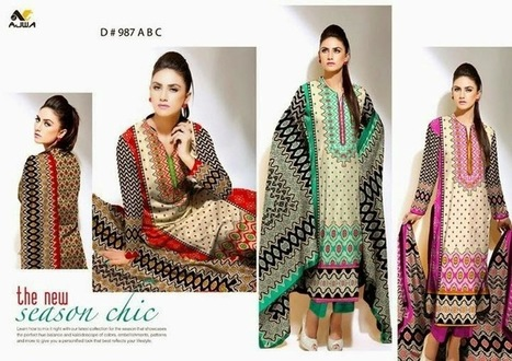 Ajwa Textile Chiffon Lawn Dresses New Collection 2015-2016 For Women | New Fashions-PK | Your choice for dress | Scoop.it