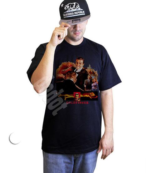 Goldfinger Men T-Shirt Bond 007 retro 70's 80's Black Tshirt | Cheap Black T-Shirt And Tank Top | Scoop.it