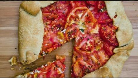 Rustic Tomato Tart with Herbed Vegan Chevré | My Vegan recipes | Scoop.it