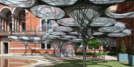 Biomimétisme : Un robot tisse une somptueuse canopée au musée Victoria & Albert | Humanoides.fr | Biomimétisme, Biomimicry, Bioinspired innovation | Scoop.it