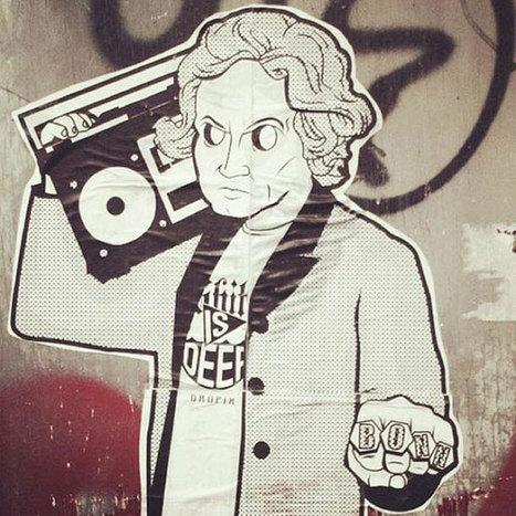 Sur fond de papier-collé, un street artiste détourne les icônes de la pop-culture   klm   Scoop.it