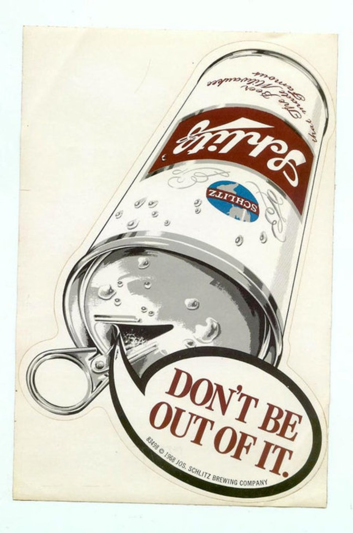 Large Vintage 1968 Schlitz Beer Can Sticker Collectible Beer Advertising Breweriana Unused | Kitsch | Scoop.it