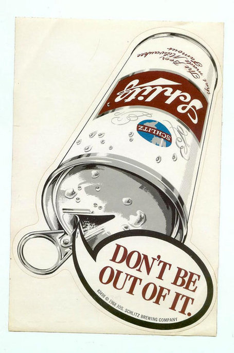 Large Vintage 1968 Schlitz Beer Can Sticker Collectible Beer Advertising Breweriana Unused | Antiques & Vintage Collectibles | Scoop.it