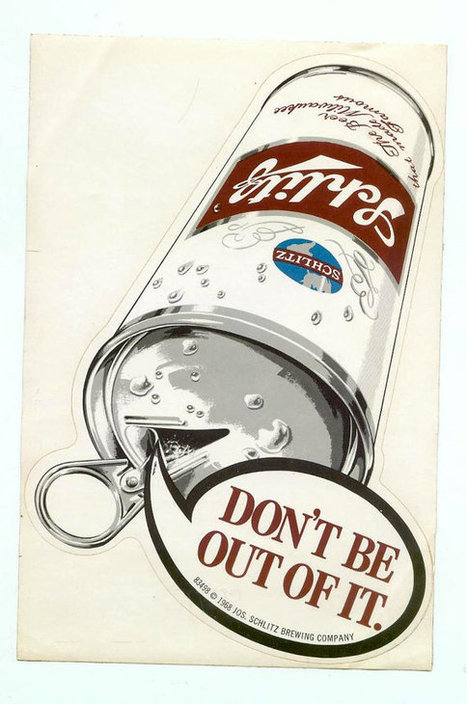 Large Vintage 1968 Schlitz Beer Can Sticker Collectible Beer Advertising Breweriana Unused   Antiques & Vintage Collectibles   Scoop.it