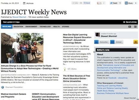 July 5 - IJEDICT Weekly News is out | Studying Teaching and Learning | Scoop.it