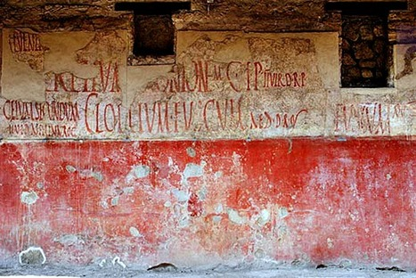 Ancient Graffiti At Pompei: Early Wall Posts And Political Slogans | Italia Mia | Scoop.it