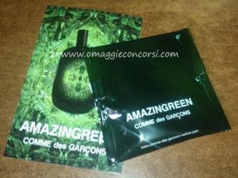 Campione di profumo Comme Des Garcons versione Amazingreen Sample | Omaggi e Concorsi | Scoop.it