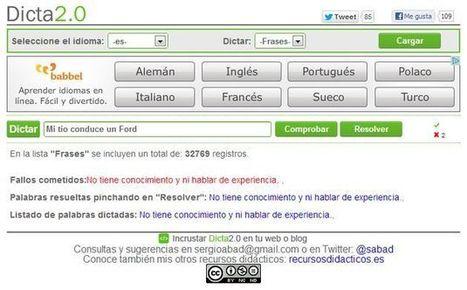Dicta2.0: Dictados online en distintos idiomas para practicar ortografía y desarrollar la comprensión auditiva y la competencia ortoépica. | EDUDIARI 2.0 DE jluisbloc | Scoop.it