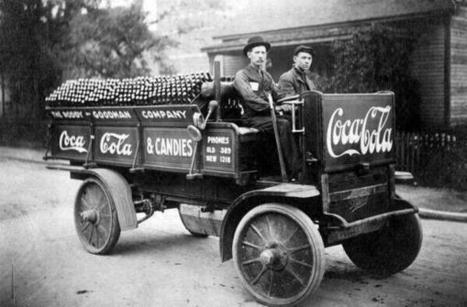 "History In Pictures sur Twitter : ""Coca Cola delivery truck, 1909 http://t.co/YHjWrRfWoT"" 