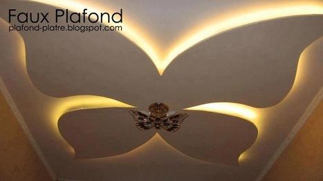 Faux plafond en forme d 39 un papillon page 3 for Decoration jebes