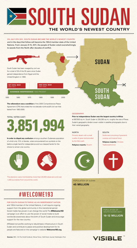 South Sudan: The World's Newest Country | Masada Geography | Scoop.it