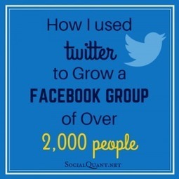 How I Used Twitter to Grow a Facebook Group of Over 2,000 People | digital marketing strategy | Scoop.it