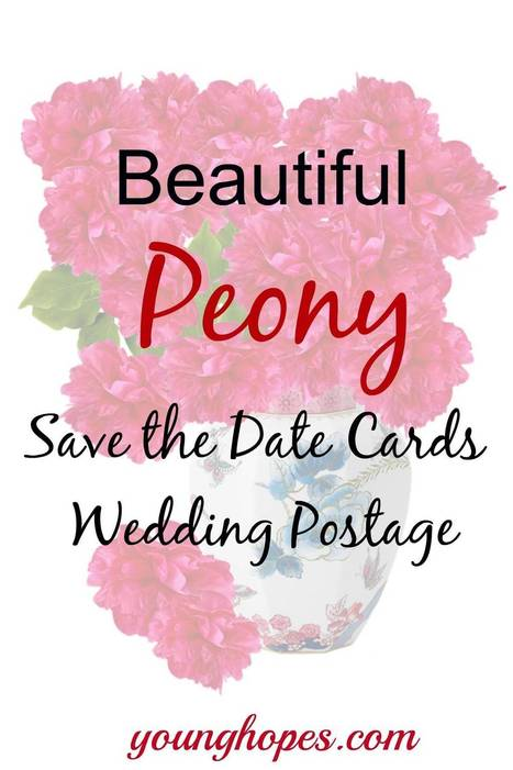Peony Save the Date Cards and Postage • | Weddings | Scoop.it